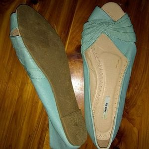 Urban Outfitters Kimchi Blue leather teal flats